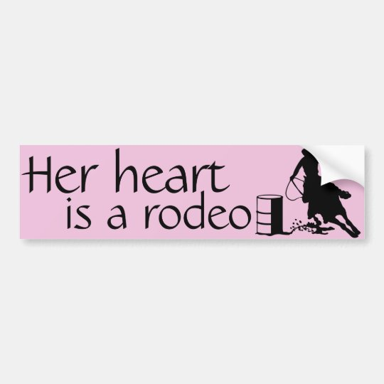 Her heart is a Rodeo Barrel Racing Horse