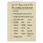 HER LIST - Maid or Matron of Honour - FUNNY Card