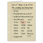 HER LIST - Thanks Reader - FUNNY Card