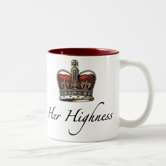 Her Majesty, Her Highness Two-Tone Coffee Mug