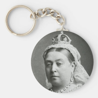 Her Majesty Queen Victoria Basic Round Button Key Ring
