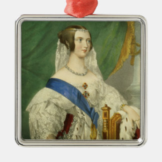 Her Most Gracious Majesty, Queen Victoria (1819-19 Silver-Colored Square Decoration