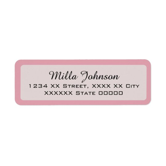 her name with pink border