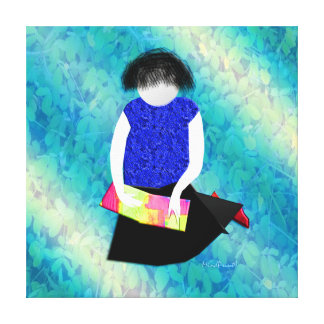 Her Picture Book Canvas Print