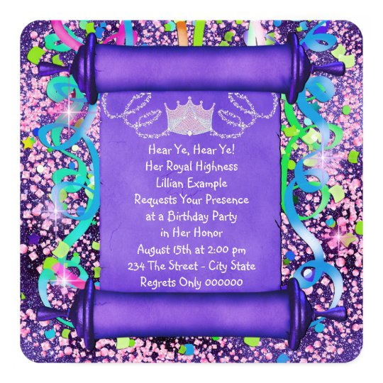 Princess Party Invitations & Announcements