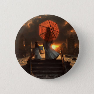 Her Silent Silhouette 6 Cm Round Badge