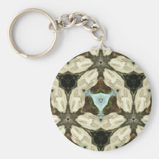 Her Stone Face Kaleidoscope Keychains