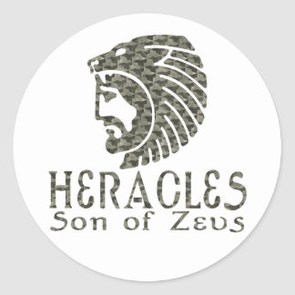 Heracles Classic Round Sticker