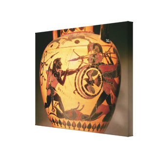 Heracles fighting Geryon Stretched Canvas Prints
