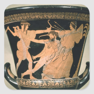 Herakles Struggling, detail from an Attic red-figu Square Sticker