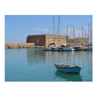 Heraklion Crete Harbor Fort Postcard