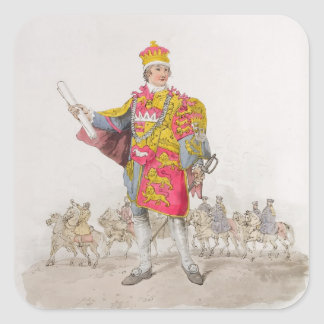 Herald, from 'Costume of Great Britain', published Square Sticker