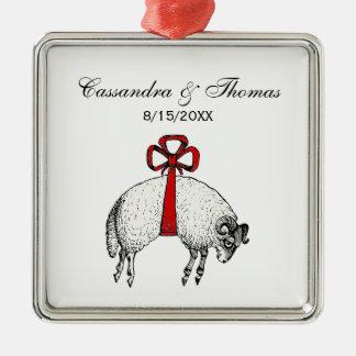 Heraldic Banded Fleece Ram Sheep Crest Emblem Christmas Ornament