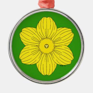Heraldic Daffodil Christmas Ornament