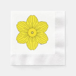 Heraldic Daffodil Paper Napkin