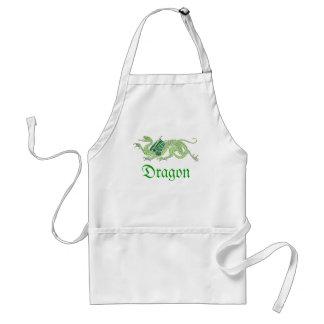 Heraldic Dragon (Green) - Apron #2