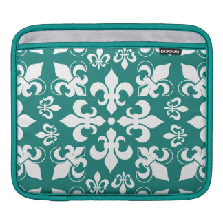 Heraldic French Fleur de Lis Pattern iPad Sleeve