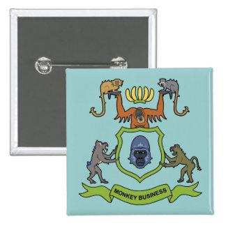 Heraldic Gorilla Monkey Business - Button