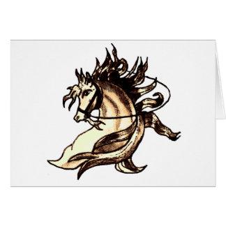 Heraldic Horse Greeting Card
