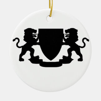 Heraldic Lions and Shield Christmas Ornament