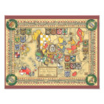 Heraldic Map of the Known World Photograph