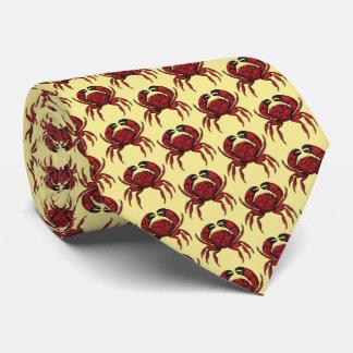 Heraldic Red Crab Crest Emblem Tie