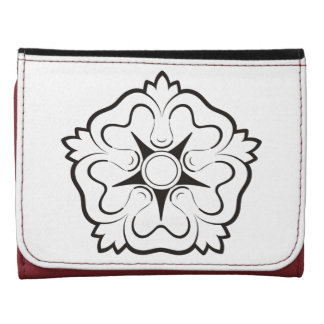Heraldic rose leather wallet