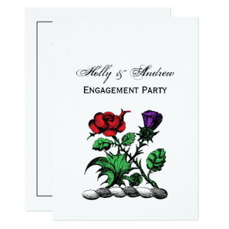 Heraldic Rose & Thistle Coat of Arms Crest Color Card