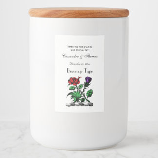 Heraldic Rose & Thistle Coat of Arms Crest Color Food Label