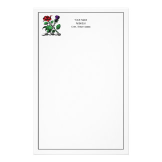 Heraldic Rose & Thistle Coat of Arms Crest Color Stationery