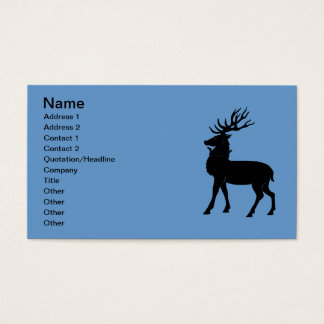Heraldic Stag Business Card
