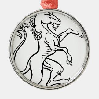Heraldic Style Unicorn Drawing Christmas Ornament