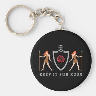Heraldic Sub Rosa Keychain