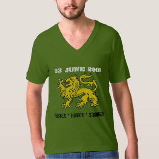 Heraldry Lion June 23 2016 Higher Faster Stronger T-shirts