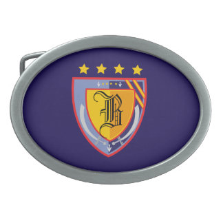 Heraldry Oval Belt Buckle