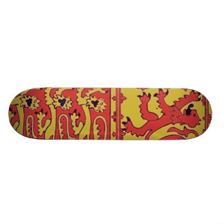 Heraldry With Harp And Lion Skate Board Deck