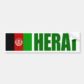 Herat, Afghanistan Flag Bumper Sticker