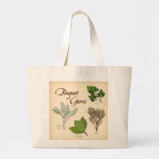 Herb Bouquet, Recipe, Bay, Thyme, Sage, Parsley Jumbo Tote Bag