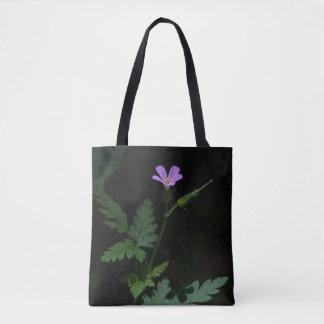 Herb Robert Geranium Pink Wildflower Tote Bag