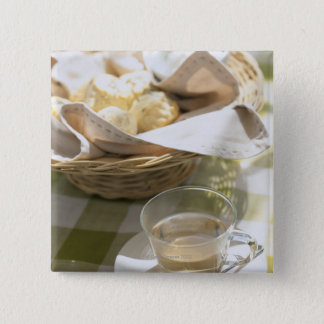 Herb Tea and Corn 15 Cm Square Badge