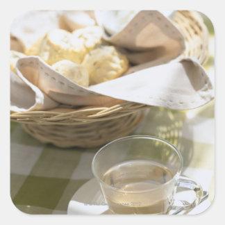 Herb Tea and Corn Square Sticker