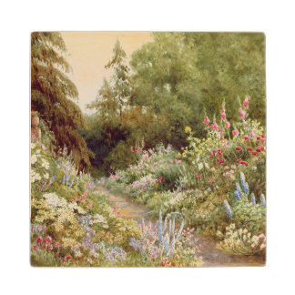 Herbaceous Border Wood Coaster