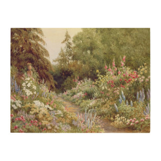 Herbaceous Border Wood Prints