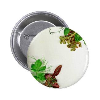 Herbal plants 6 cm round badge