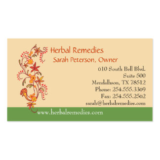 Herbal Remedies Business Card Template