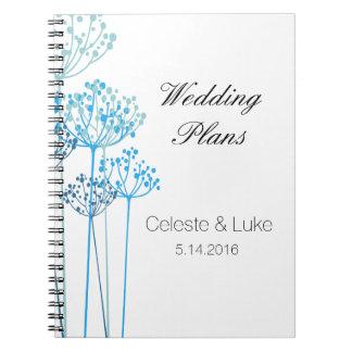 Herbal Rhapsody Wedding Plans Notebooks