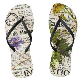 Herbarium Adult, Slim Straps Flip Flops