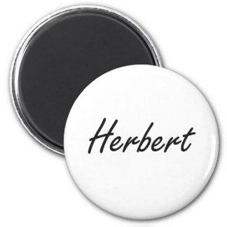 Herbert Artistic Name Design 6 Cm Round Magnet