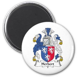 Herbert Family Crest 6 Cm Round Magnet