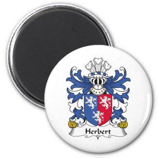 Herbert Family Crest Fridge Magnet